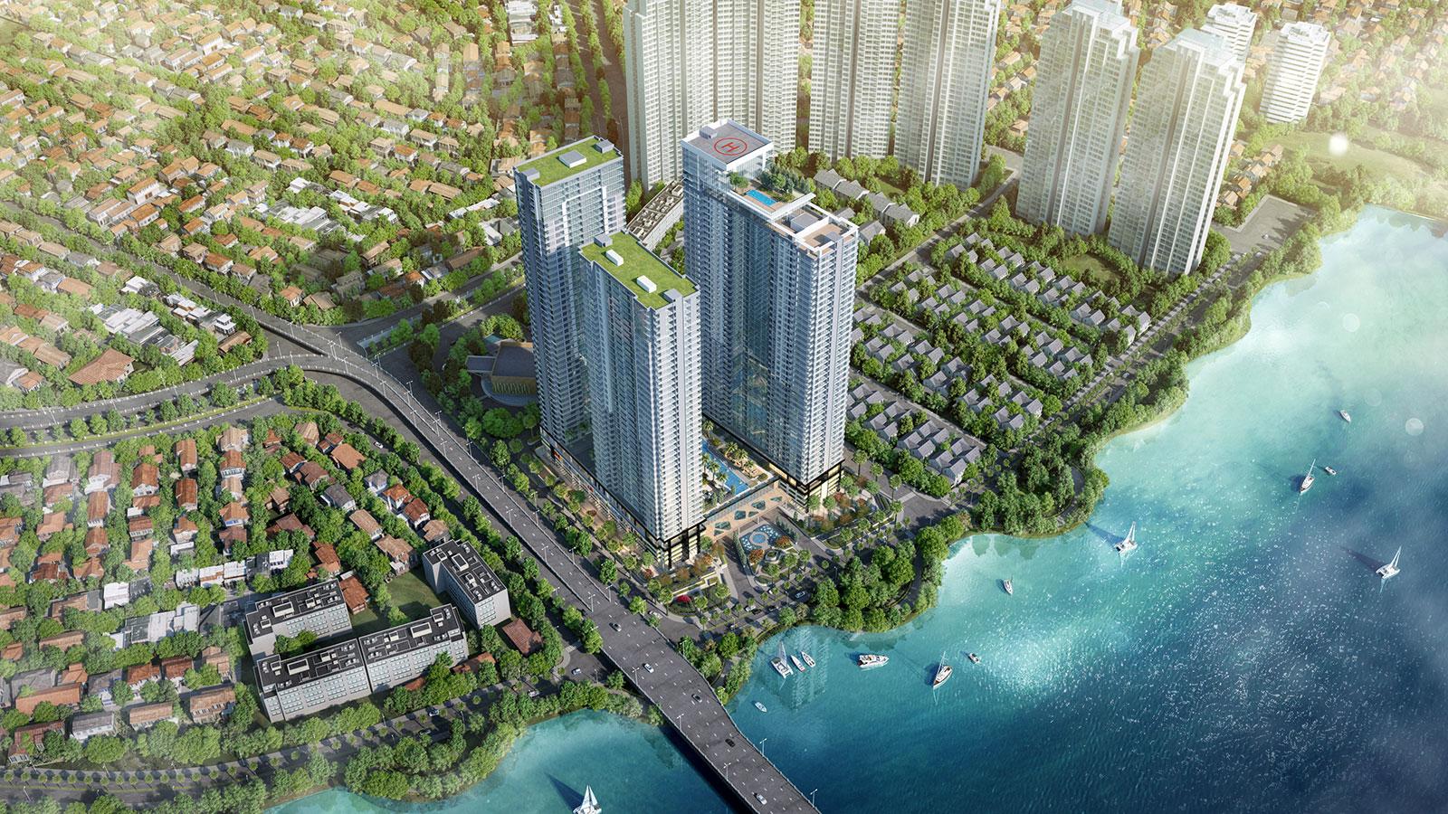 Tòa tháp B1 của dự án Sunwah Pearl bao gồm có những gì?