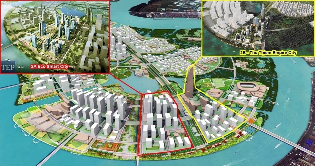 vi tri du an eco smart city thu thiem quan 2