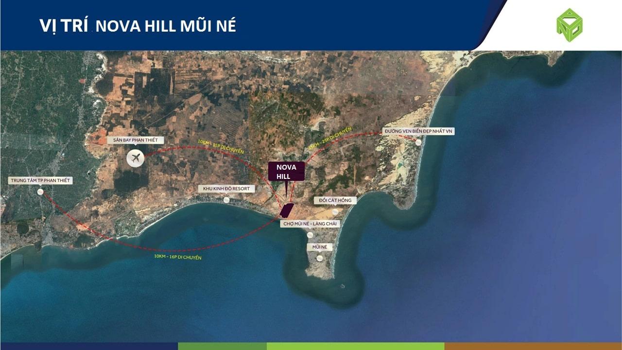 Vị trí dự án Nova Hill Mũi Né