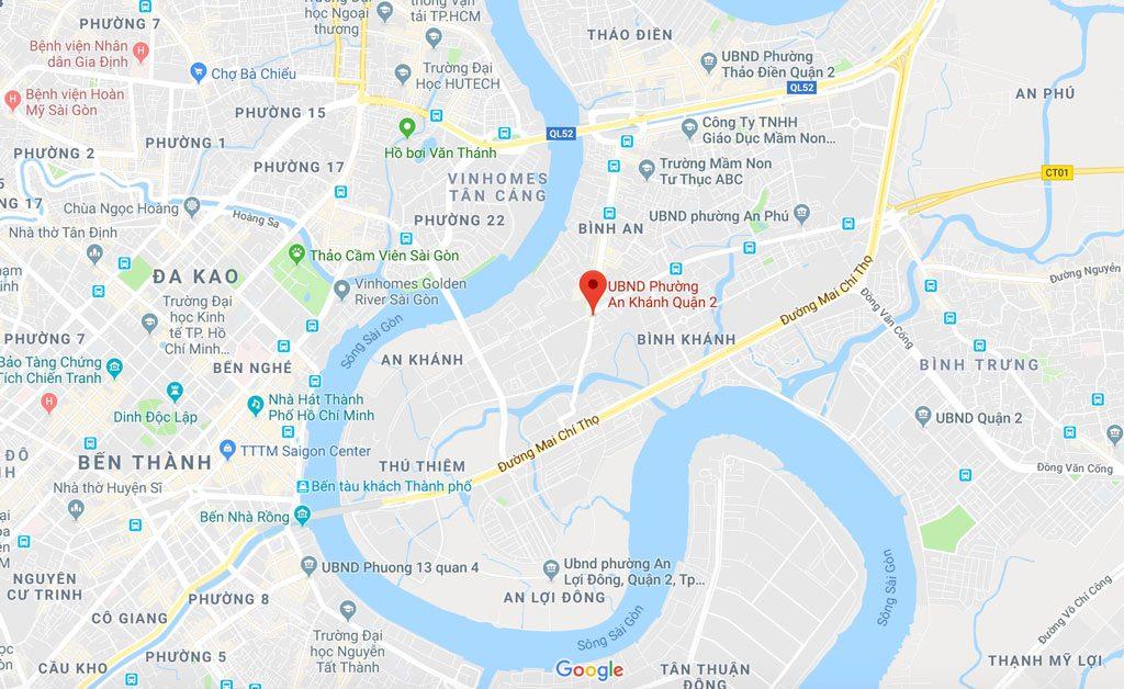 Vị trí đắc địa của dự án Paris Hoàng Kim
