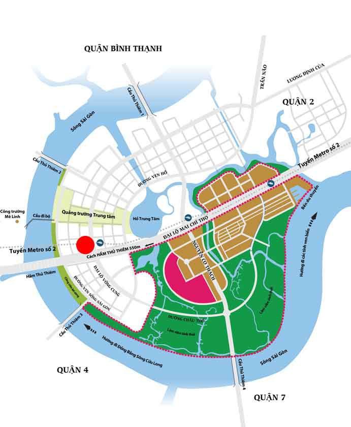 Vị trí căn hộ Sunshine Venicia Quận 2 có gì nổi bật?