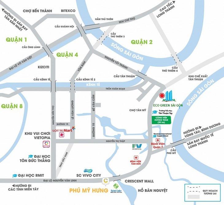Các tiện ích nổi bật tại dự án Eco Green Sài Gòn