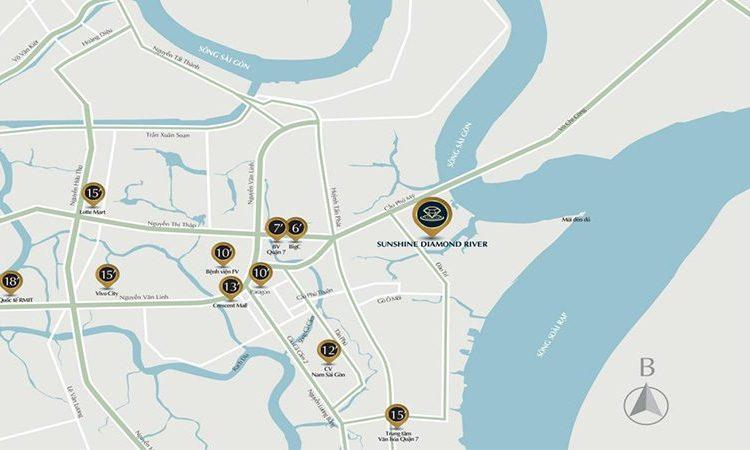 Thông tin vị trí tọa lạc dự án Sunshine Diamond River