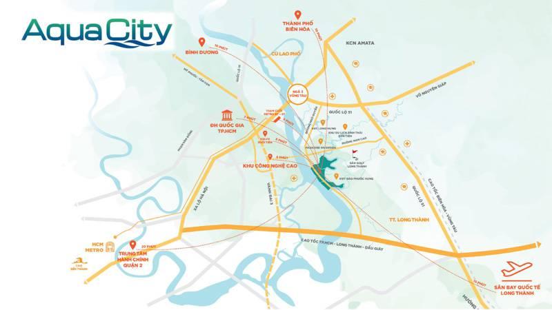 Tiện ích ngoại khu dự án Aqua City có gì?