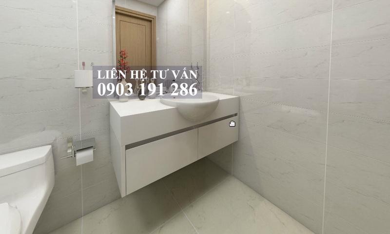 Cho thuê căn Sunwah Pearl lầu 11 toà B3 đầy đủ nội thất 2 phòng ngủ view sông