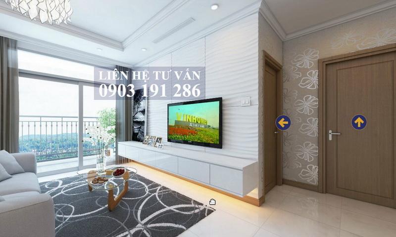 Sunwah Pearl Bình Thạnh cho thuê tầng 12A B2 có nội thất 3 phòng ngủ view sông