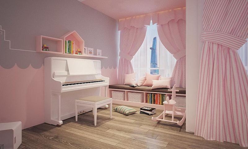 Sunwah Pearl cho thuê lầu 15 block B2 nội thất đầy đủ 3 phòng ngủ view hồ bơi