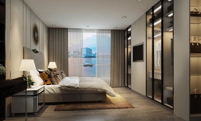 Sunwah Pearl Bình Thạnh cho thuê penthouse block B2 nhà đẹp 4 phòng ngủ view sông