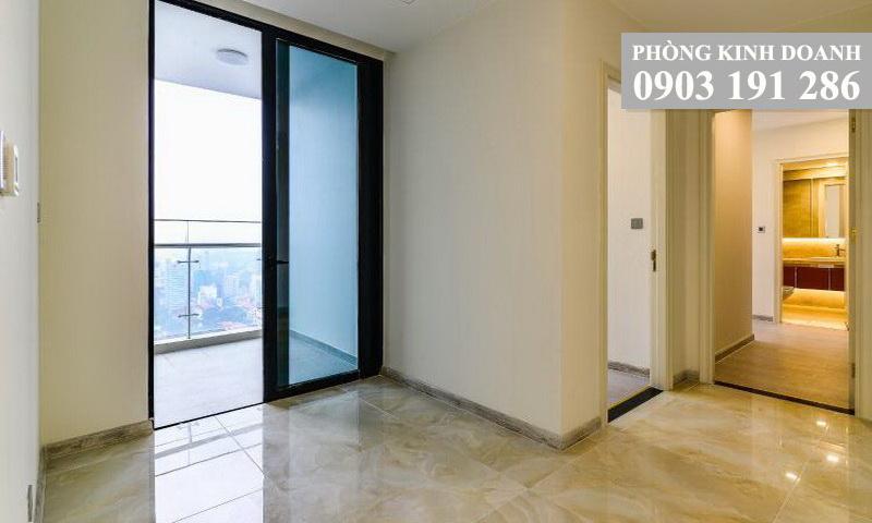Căn hộ Sunwah Pearl cho thuê lầu 10 toà B3 không nội thất 3 phòng ngủ view hồ bơi