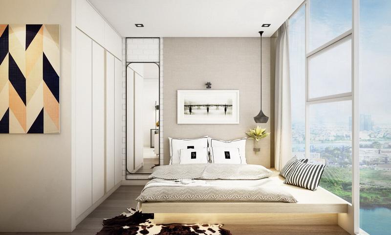 Căn hộ Sunwah Pearl Bình Thạnh cho thuê tầng 15 block B1 nội thất xịn 1 phòng ngủ