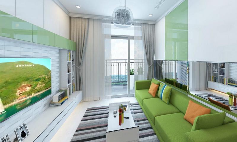 Căn hộ Sunwah Pearl Bình Thạnh cho thuê tầng 24 toà B1 có nội thất 1 phòng ngủ