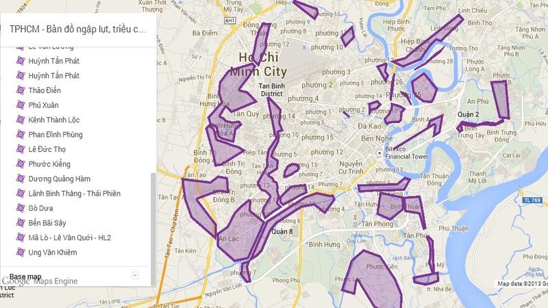 Bản đồ ngập nước thành phố Hồ Chí Minh