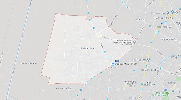 Quy hoạch xã Vĩnh Lộc A huyện bình chánh mới nhất 2020