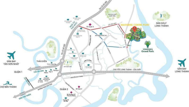 Đánh giá kết nối giao thông dự án Masteri Centre Point