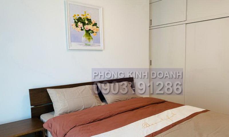Căn hộ cho thuê Sunwah Pearl lầu 23 B3 có nội thất 2 phòng ngủ view sông