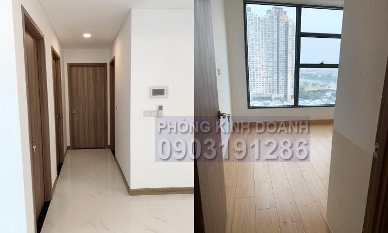 Căn hộ cho thuê Sunwah Pearl tầng 20 B3 nhà trống 2 phòng ngủ view sông