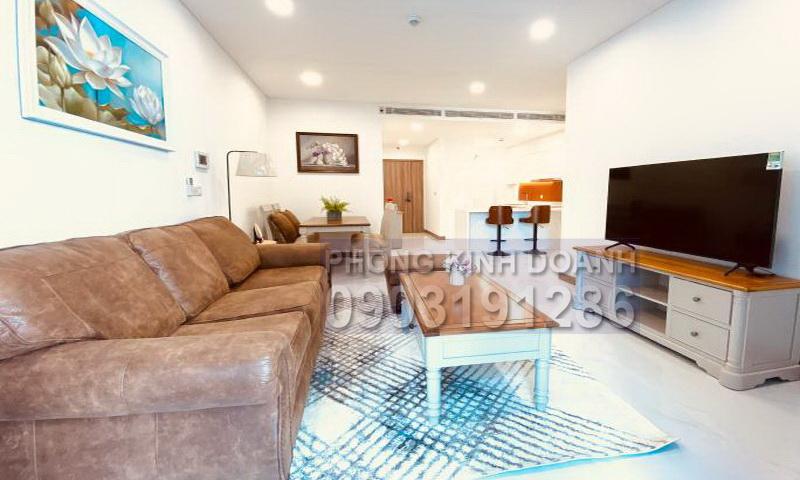 Căn hộ cho thuê Sunwah Pearl lầu 16 B3 nội thất đẹp 2 phòng ngủ view sông