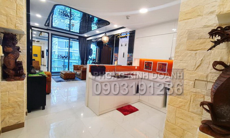 Sunwah Pearl cho thue tầng 10 block B1 nội thất xịn 1 phòng ngủ view sông