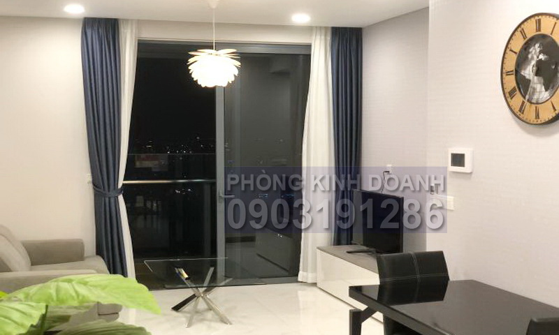Căn hộ Sunwah Pearl cho thuê lầu 43 tháp B1 có nội thất 1 phòng ngủ view L81