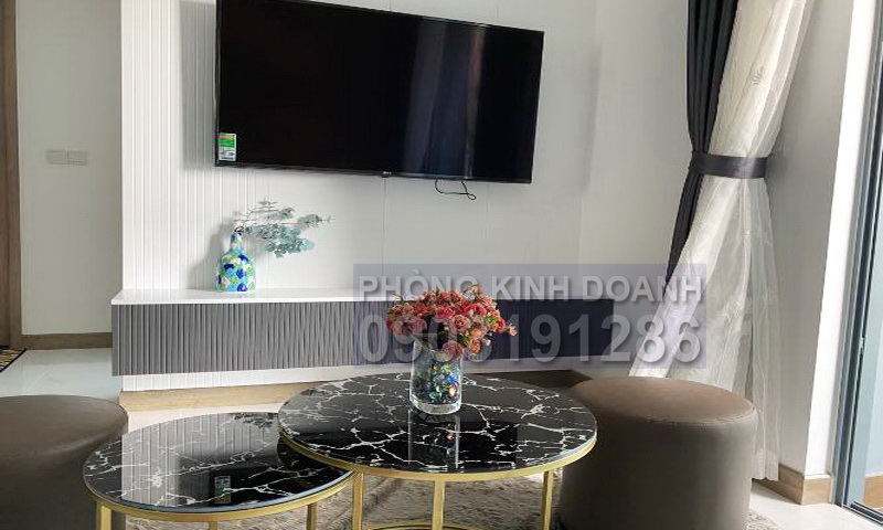 Căn hộ Sunwah Pearl cho thuê lầu 20 B1 nội thất xịn 1 phòng ngủ view sông