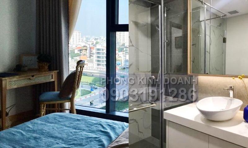 Căn hộ Sunwah Pearl cho thuê tầng 8 toà B1 nội thất full 1 phòng ngủ mát
