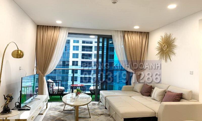 Căn hộ cho thuê Sunwah Pearl lầu 23 đầy đủ nội thất 2 phòng ngủ view sông