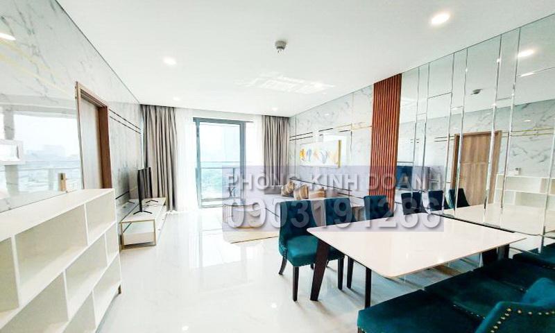 Cho thuê Sunwah Pearl tầng 8 B1 nội thất cao cấp 2 phòng ngủ view quận 1