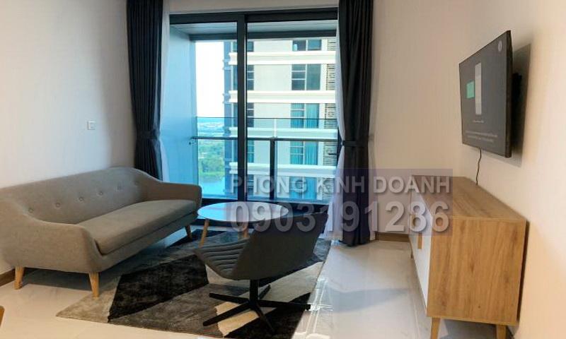 Sunwah Pearl cho thuê tầng 26 tháp B1 nội thất cao cấp 1 phòng ngủ view sông